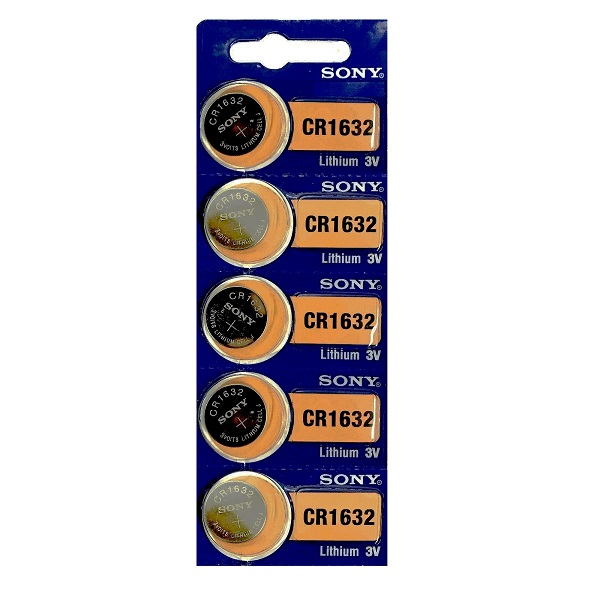 Sony CR1632 Lithium Cell Button Battery (5 Pieces)
