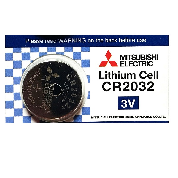 Mitsubishi CR2032 Lithium Cell Button Battery (1 Piece)
