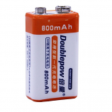 Doublepow 9V 6F22 800mAh LSD Lithium Rechargeable Battery (1 Piece)