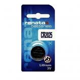 Renata CR2025 Lithium Cell Button Battery (1 Piece)