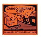 IATA DG Hazard Handling Labels Cargo Aircraft Only 12x11cm (100 Pieces)