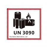 IATA DG Hazard Label Class 9 Lithium Battery UN3480 12x11cm (100 Pieces)